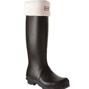 NWT Hunter fleece welly socks cream M